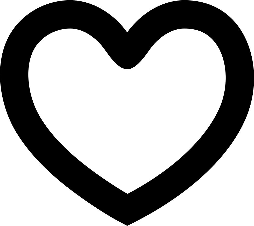 Svg outline heart clipart svg transparent library Heart Outline Shape Svg Png Icon Free Download (#33559 ... svg transparent library