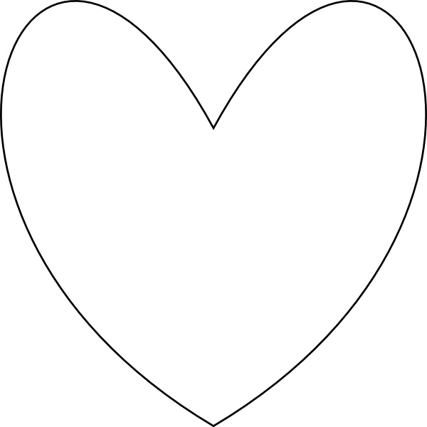 Svg outline heart clipart png black and white download Heart outline vector svg free vector download (89,971 Free vector ... png black and white download