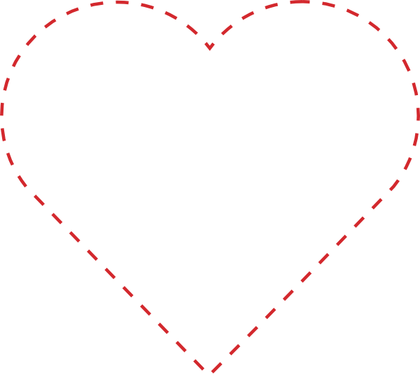 Heart stitch clipart picture black and white Stitched Heart Outline Clip Art at Clker.com - vector clip art ... picture black and white