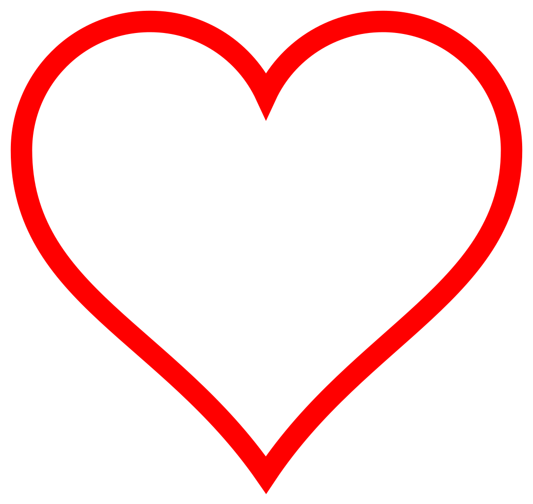 Svg outline heart clipart jpg library library File:Heart icon red hollow.svg - Wikimedia Commons jpg library library