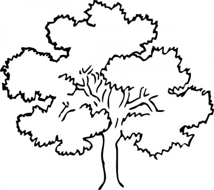 Svg tree clipart vector transparent library Oak tree clip art free vector in open office drawing svg svg ... vector transparent library