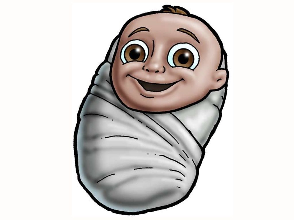 Swaddling clipart picture transparent stock Baby Jesus in swaddling clothes. – Slide 9 | Nacimientos ... picture transparent stock