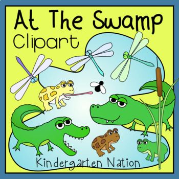 Swamp aligator animals clipart png free library Swamp Animals Clip Art | My TpT Store | Learning resources ... png free library