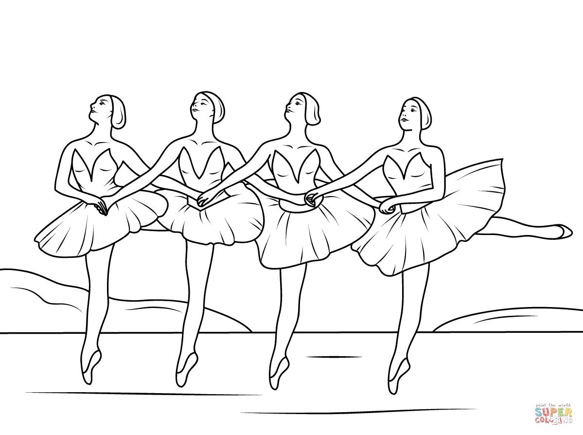 Swan lake black and white free clipart jpg royalty free stock Swan Lake Ballet coloring page | Free Printable Coloring Pages jpg royalty free stock