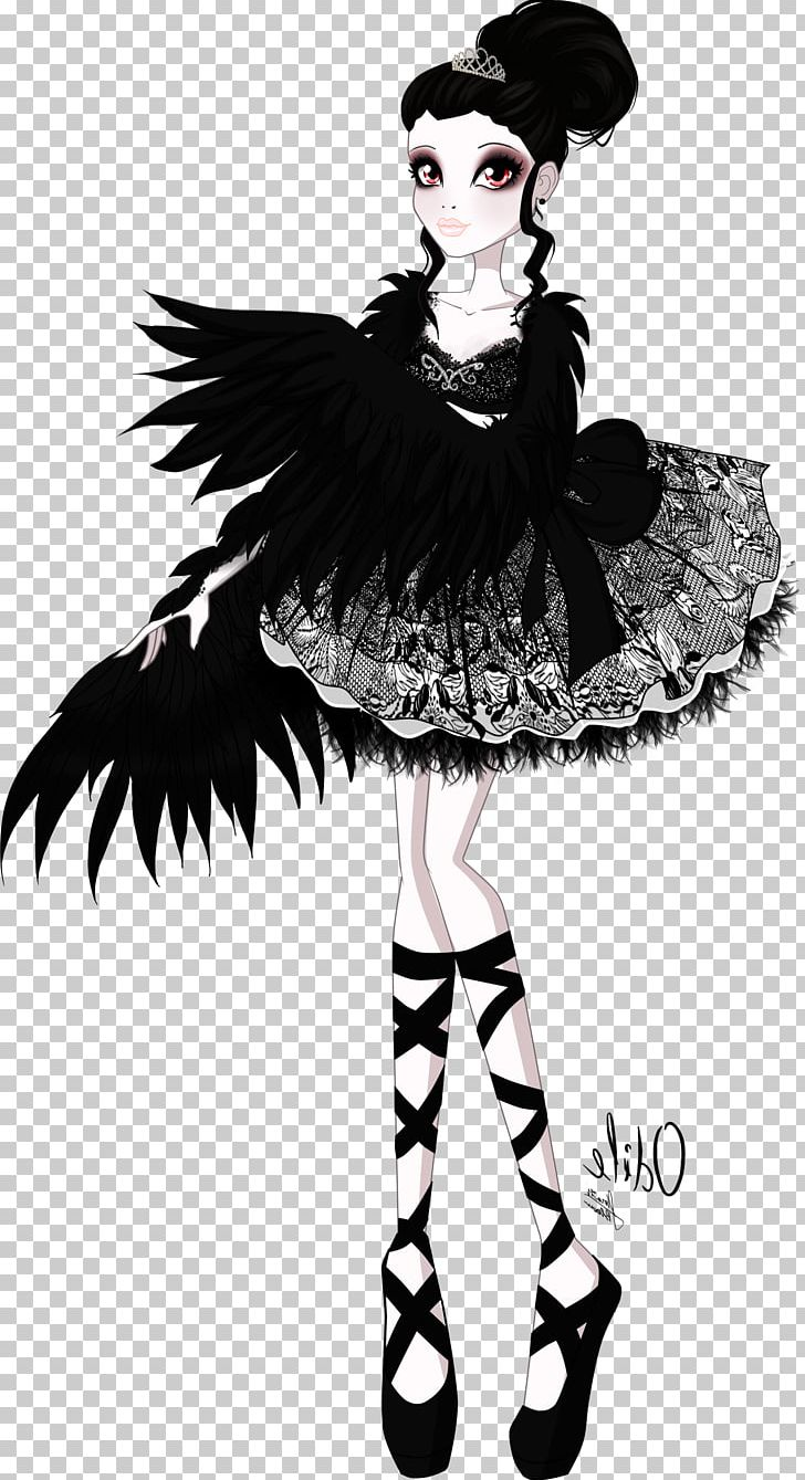 Swan lake black and white free clipart graphic transparent stock Cygnini Monster High Swan Lake Ever After High PNG, Clipart ... graphic transparent stock
