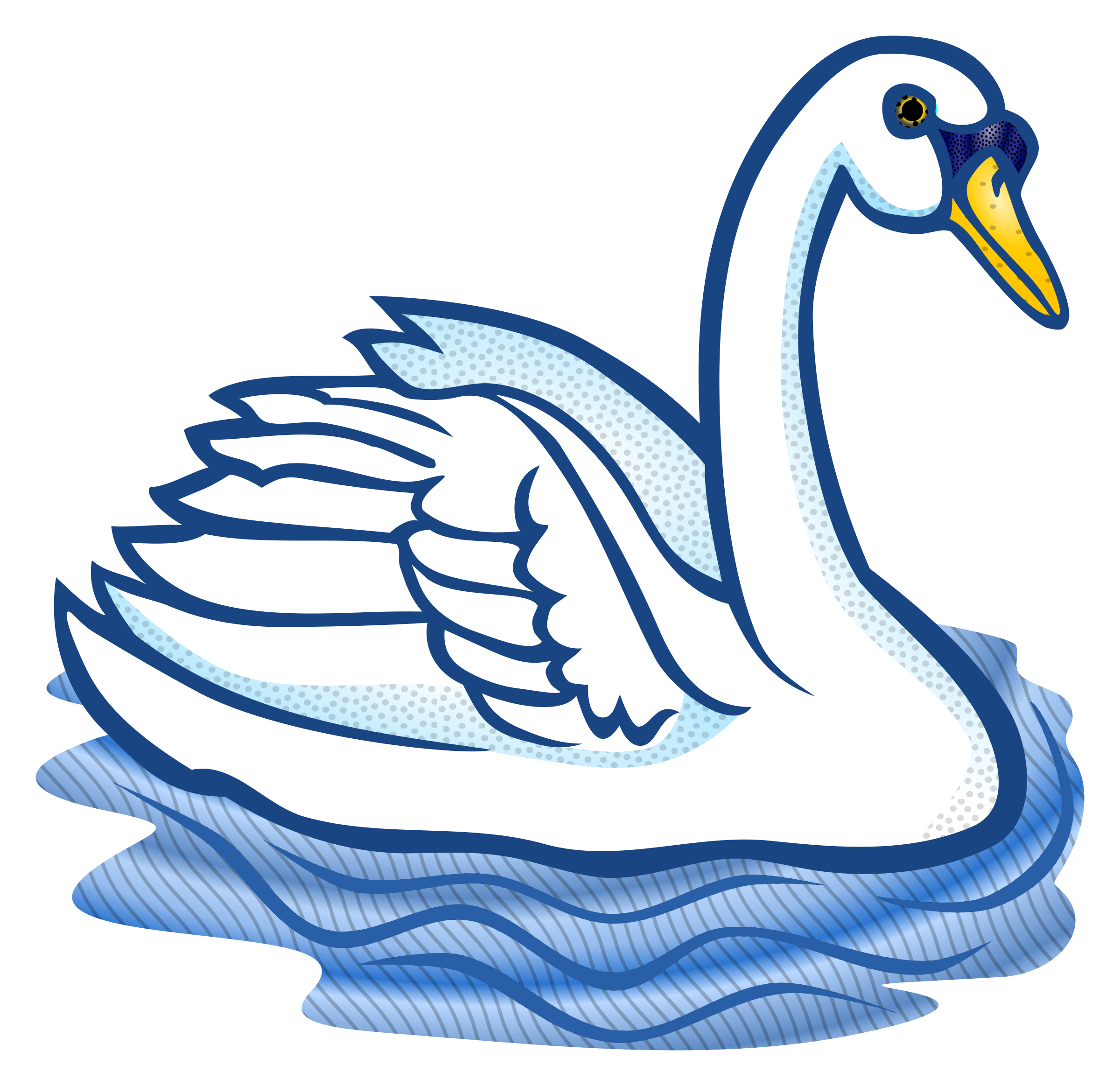 Two swans making a heart clipart jpg library library 28+ Collection of Swan Clipart Outline | High quality, free cliparts ... jpg library library