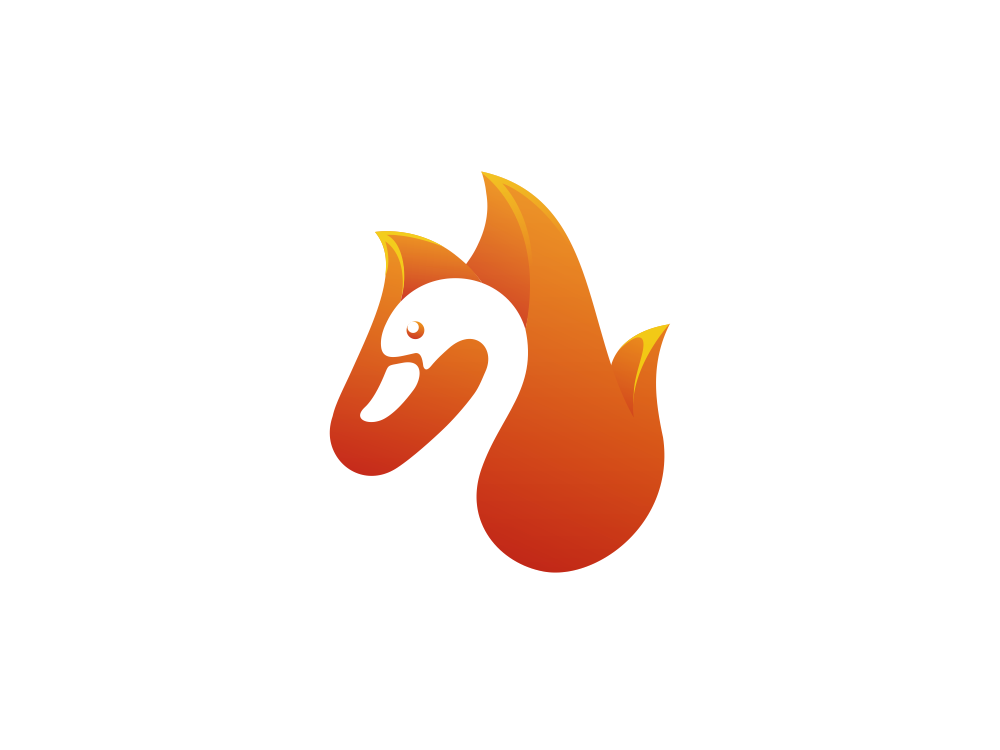 Swanfire clipart image library Fire Swan by Garagephic Studio on Dribbble image library