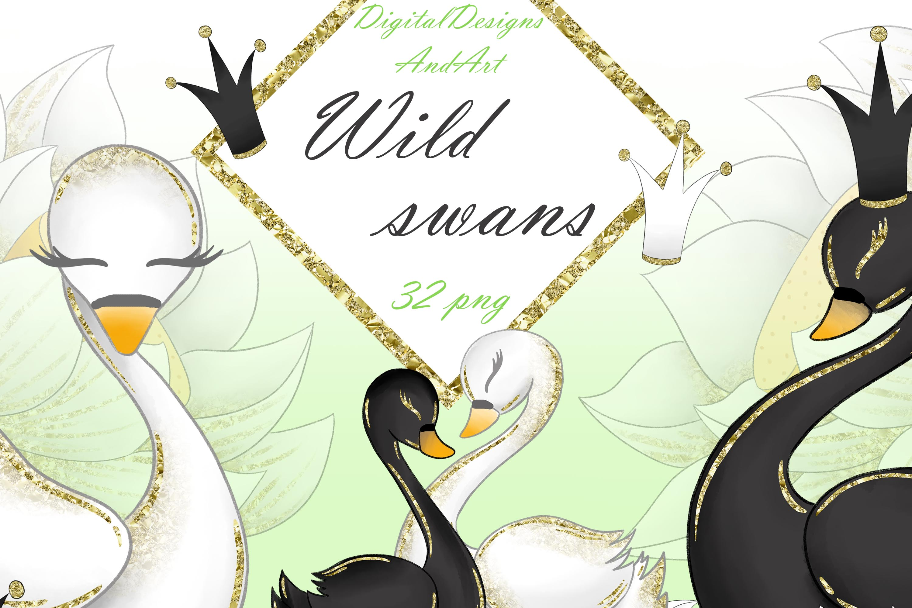 Swans clipart clip art freeuse download Wild swans clipart clip art freeuse download