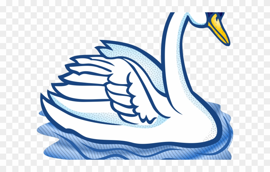 Swans clipart graphic black and white library Swan Clipart Trumpeter Swan - Swan Clipart Black And White ... graphic black and white library