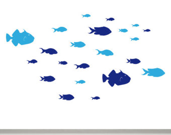Swarms of fish clipart banner library library Bird school of fish clipart - Clip Art Library banner library library