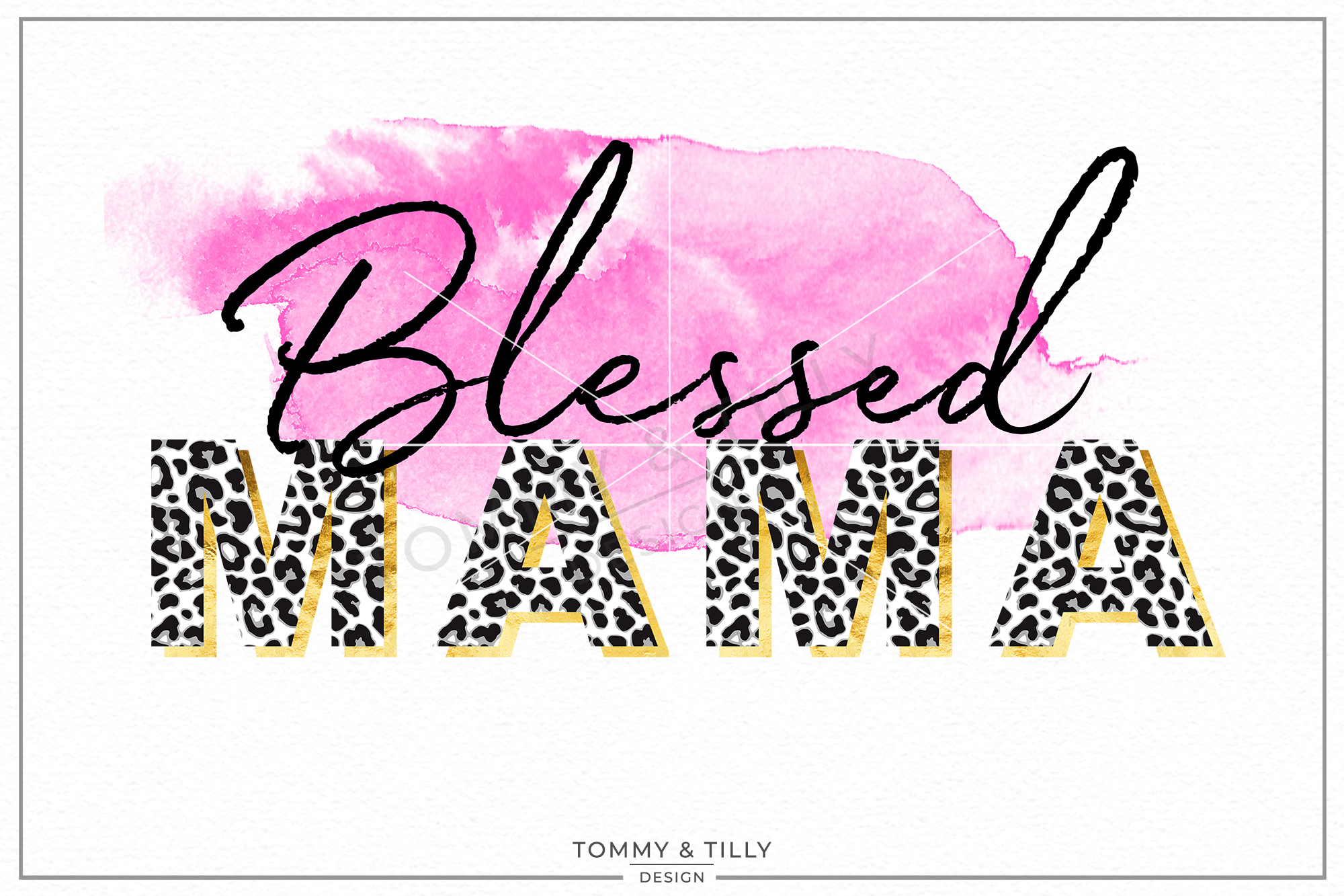 Swash clipart picture transparent download Blessed Mama Watercolour Swash - Sublimation PNG Clipart picture transparent download