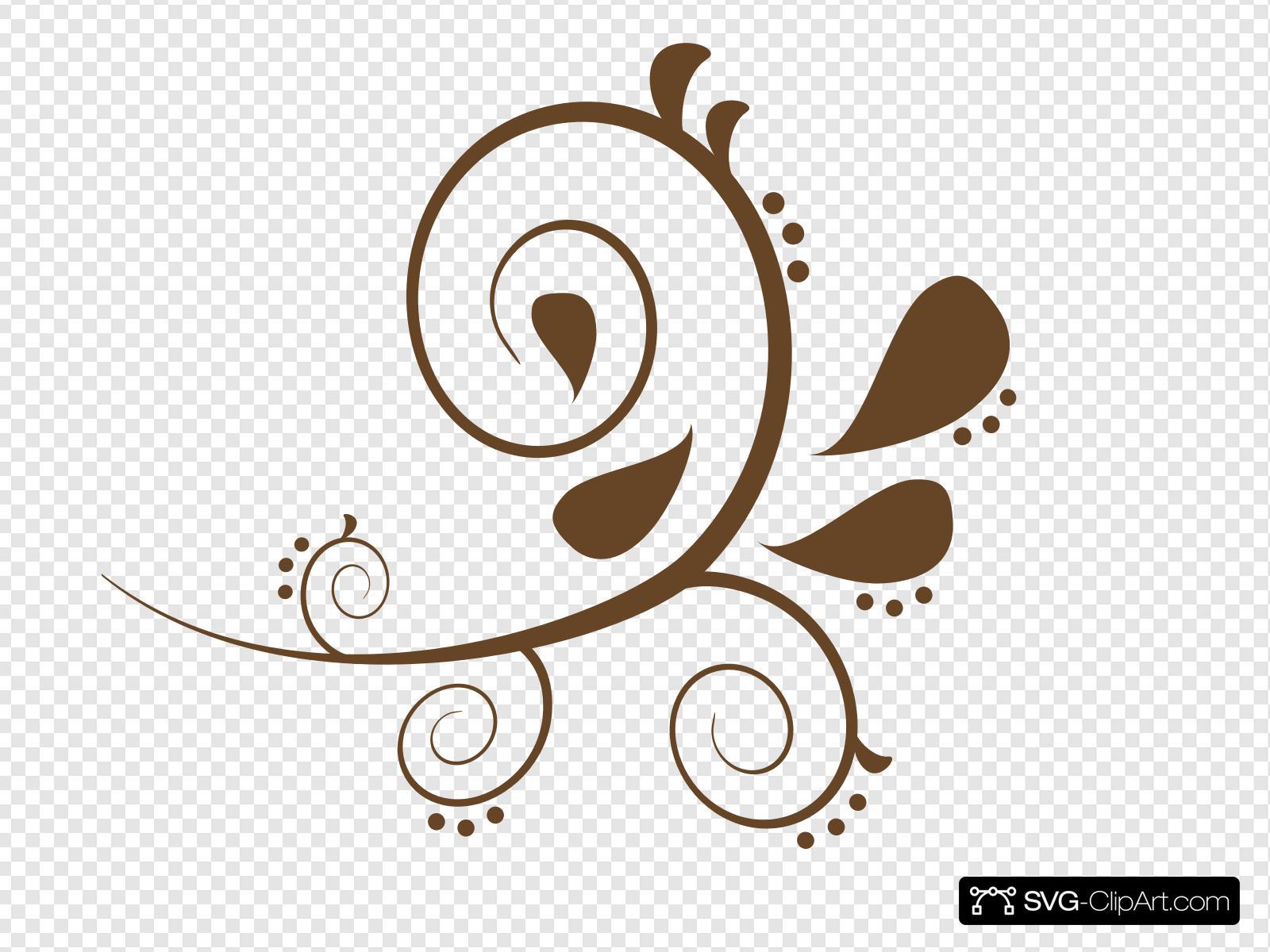 Swash clipart clipart transparent Brown Paisley Swash Clip art, Icon and SVG - SVG Clipart clipart transparent