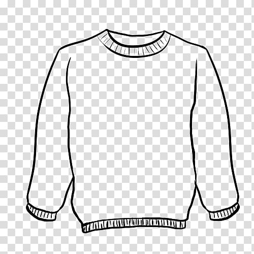 Sweater clipart outline transparent background jpg library T-shirt Hoodie Christmas jumper Sweater Cardigan, creative ... jpg library