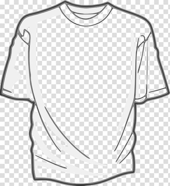 Sweater clipart outline transparent background clip art White crew-neck shirt illustration, T-shirt Clothing ... clip art
