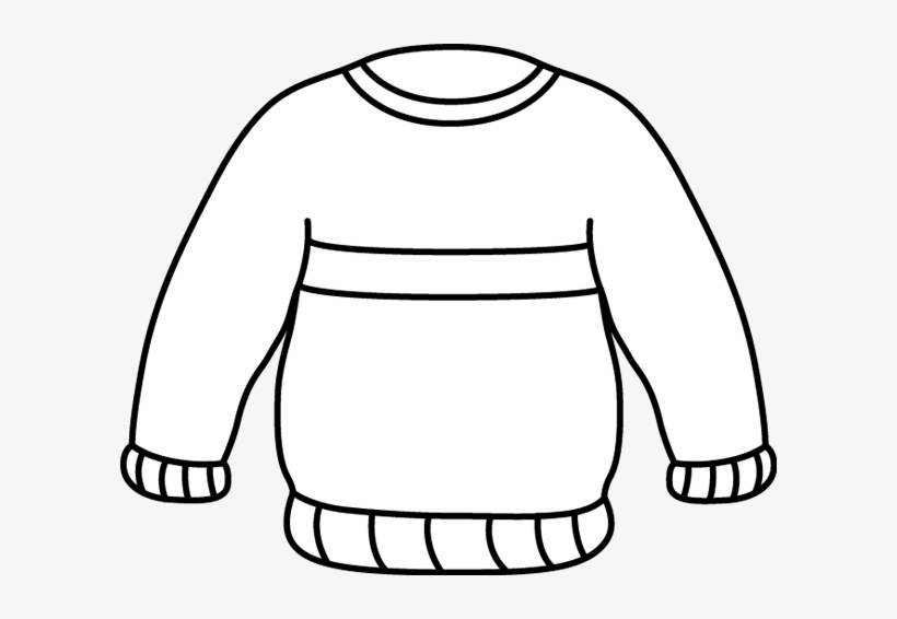 Sweater clipart outline transparent background graphic transparent download Black And White Striped Sweater - Sweater Clipart Black And ... graphic transparent download
