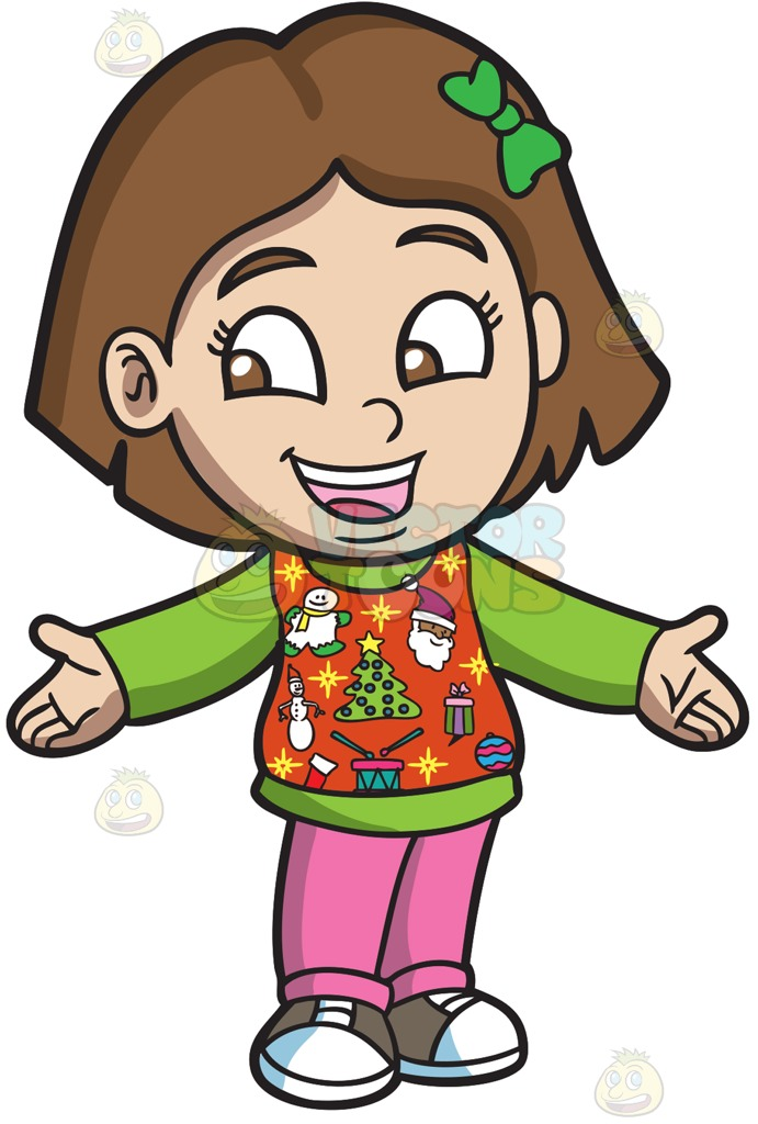 Sweaters clipart girl jpg royalty free library Free Ugly Sweater Clipart | Free download best Free Ugly ... jpg royalty free library
