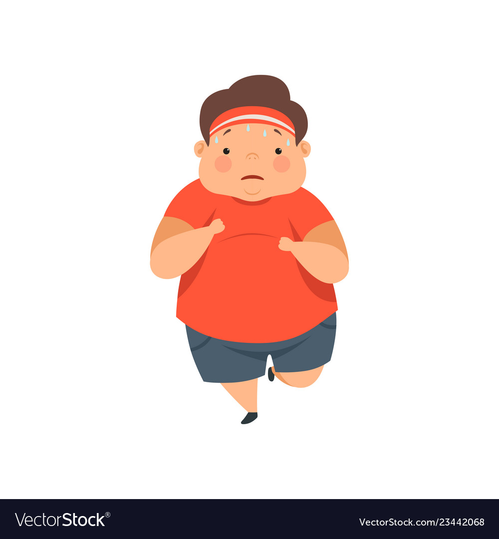 Sweating kid clipart clipart freeuse Overweight sweaty boy running cute chubby child clipart freeuse