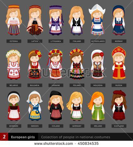 Sweden traditional clothing men clipart svg transparent download European girls in national dress. Set of european woman ... svg transparent download