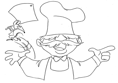 Swedish chef clipart picture download Swedish Chef Muppets Coloring Pages coloring page, coloring image ... picture download