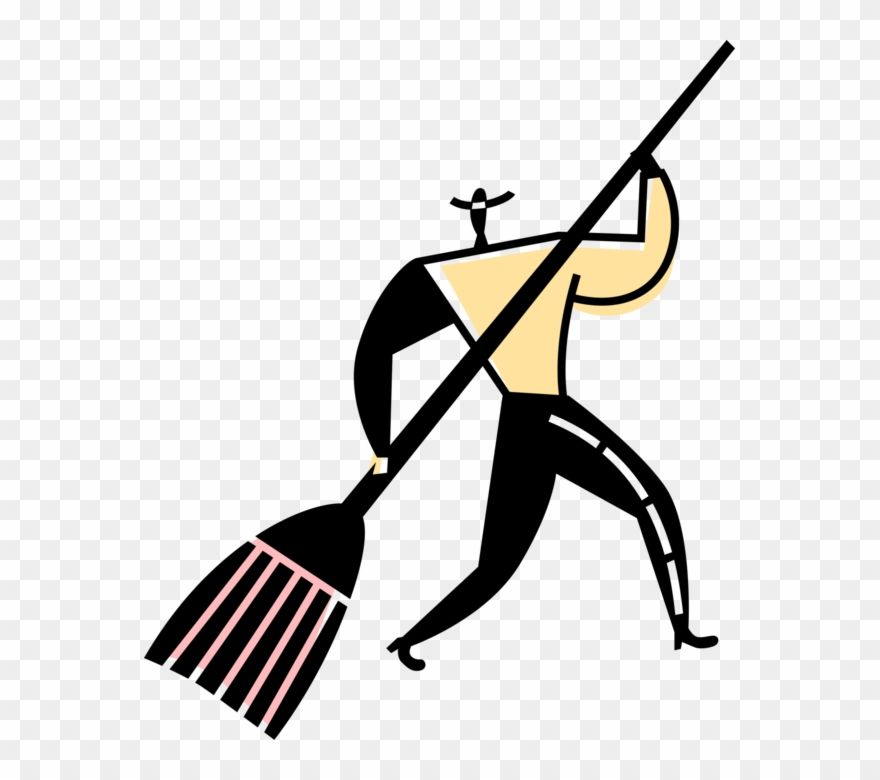 Sweeper clipart vector royalty free stock Vector Illustration Of Street Sweeper Cleaner Sweeps ... vector royalty free stock