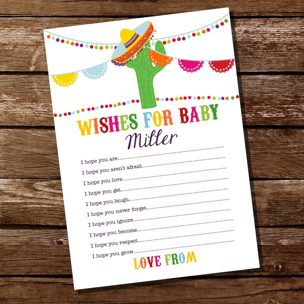 Sweedish and mexican baby clipart graphic freeuse stock Mexican Fiesta Baby Shower Wishes For Baby Card graphic freeuse stock