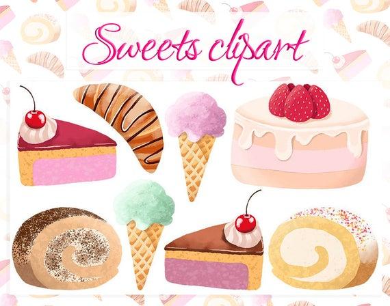 Sweet dessert clipart clip art free download Sweets clipart Ice cream clipart Cake clipart Chocolate ... clip art free download