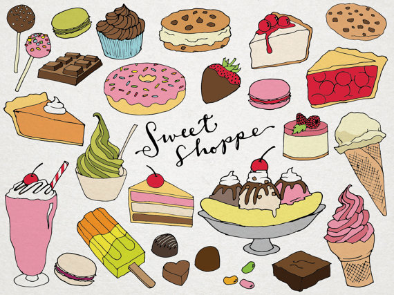 Sweet dessert clipart clipart royalty free stock Desserts Clipart - Sweet Shoppe Clip art, hand drawn clip ... clipart royalty free stock