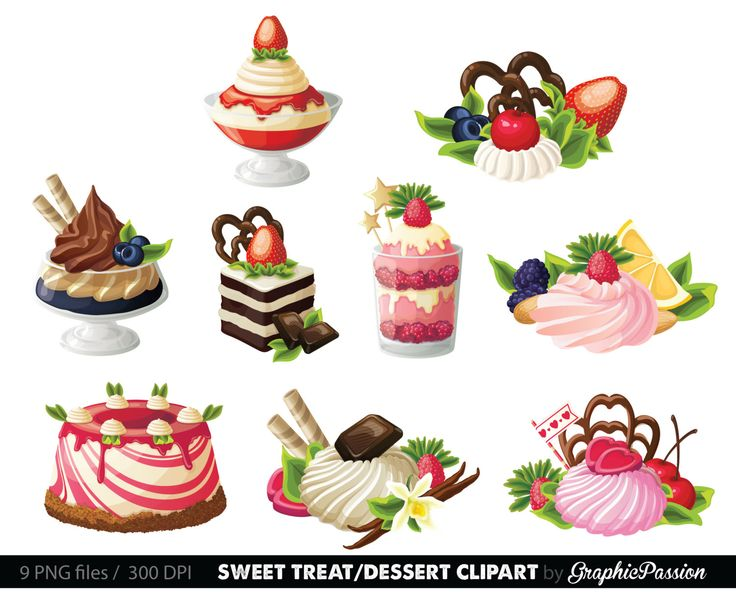 Sweet dessert clipart banner black and white stock Desserts clipart - 27 transparent clip arts, images and ... banner black and white stock