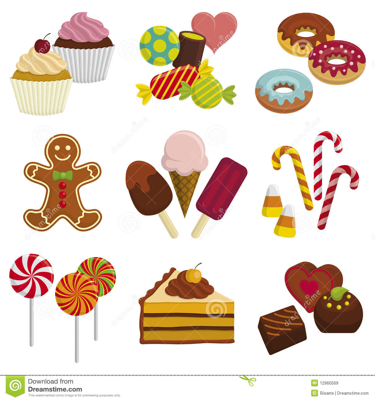 Sweet foods clipart vector black and white stock Food Sweet Clipart Clipart Kid - Free Clipart vector black and white stock