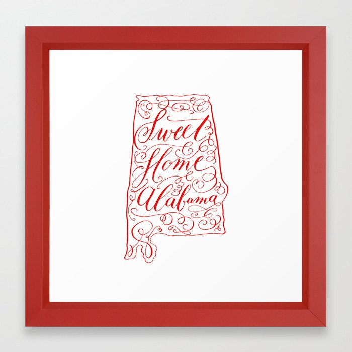 Sweet home alabama clipart free library Sweet Home Alabama Framed Art Print free library