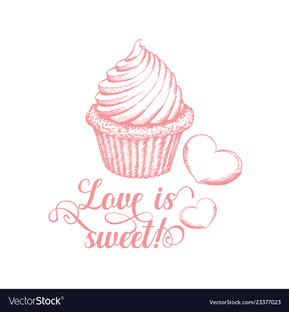 Sweet love clipart banner royalty free Sweet love pinl calligraphy banner royalty free