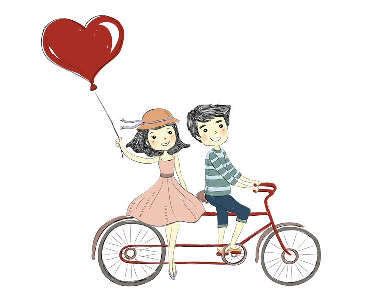 Sweet love clipart graphic black and white stock Free Cute Couple Cliparts, Download Free Clip Art, Free Clip ... graphic black and white stock