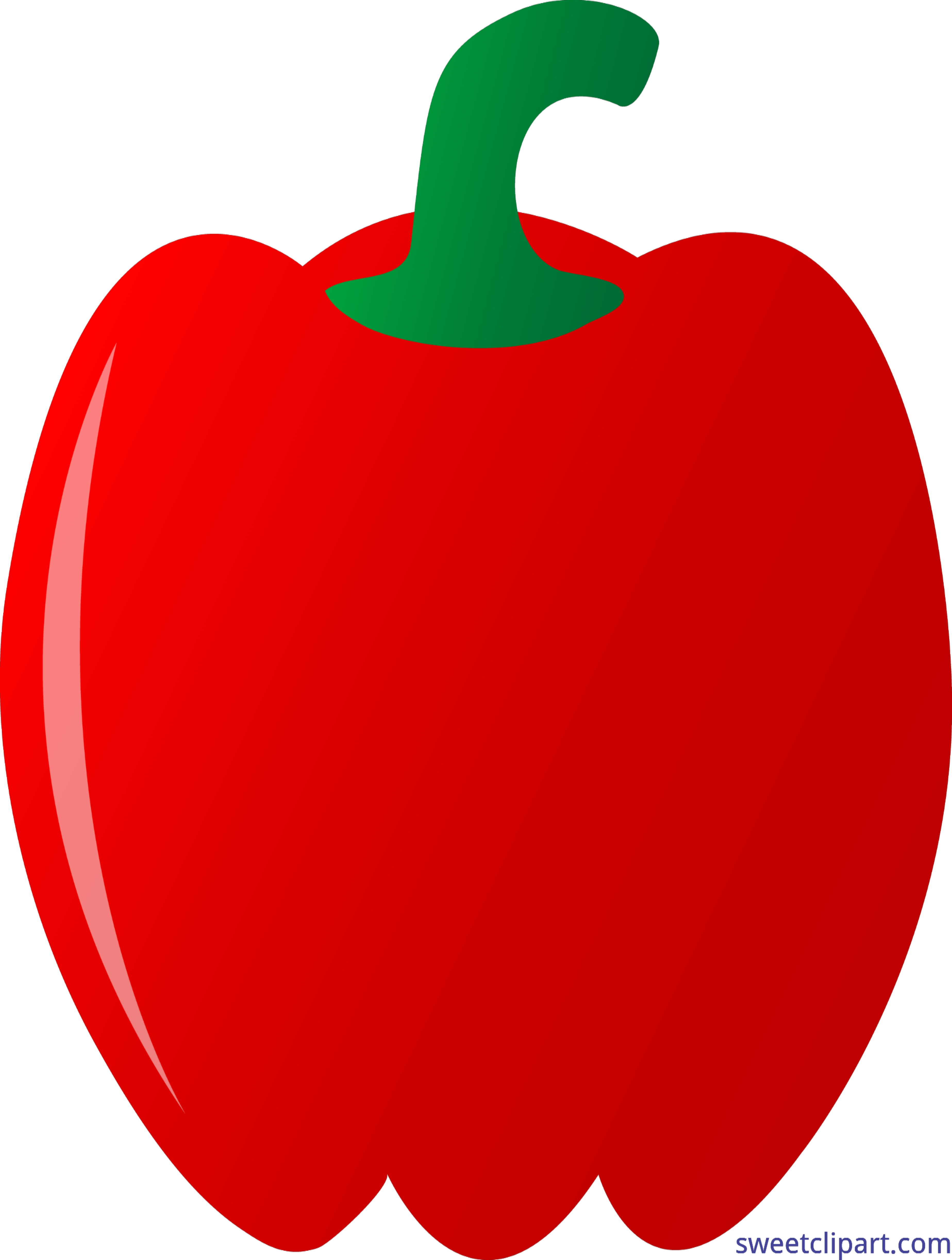 Sweet pepper clipart banner royalty free stock Red Bell Pepper Clip Art - Sweet Clip Art banner royalty free stock
