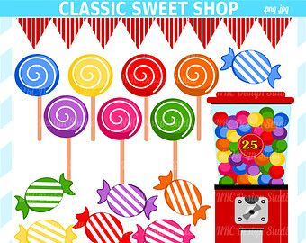 Sweet shop clipart logo freeuse Candyland Clip Art - Classic Sweet Shop Clip Art - Digital ... freeuse