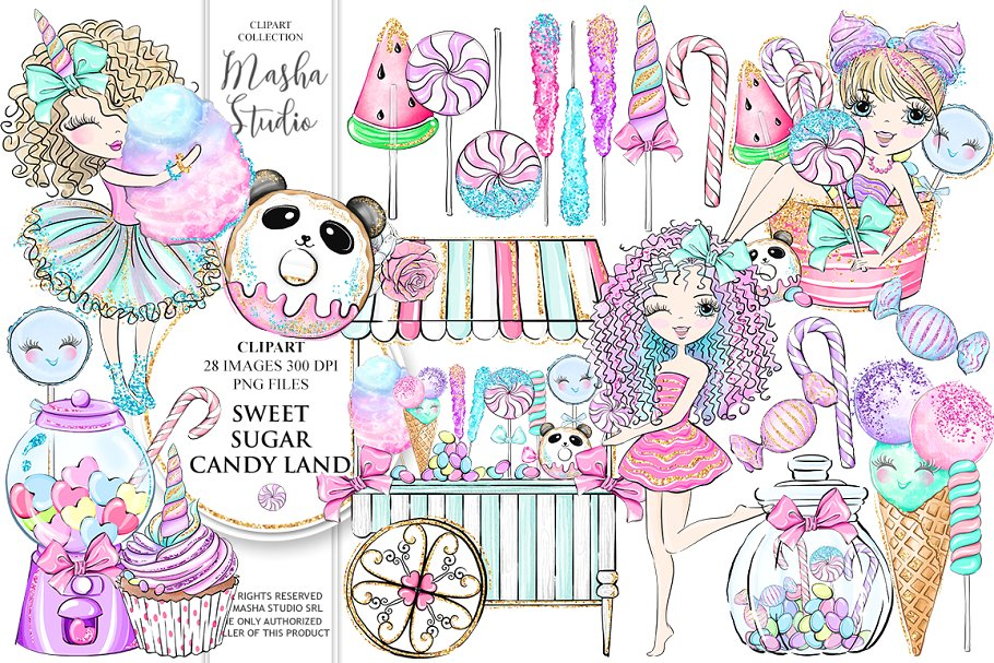 Sweet sugar clipart graphic download SWEET SUGAR CANDY LAND Clipart graphic download