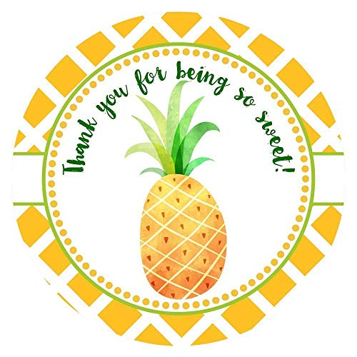 Sweet thank you clipart clipart free library Sweet Pineapple Thank You Sticker Labels - Summer Tropical Fruit Party  Favor Labels - Set of 30 clipart free library