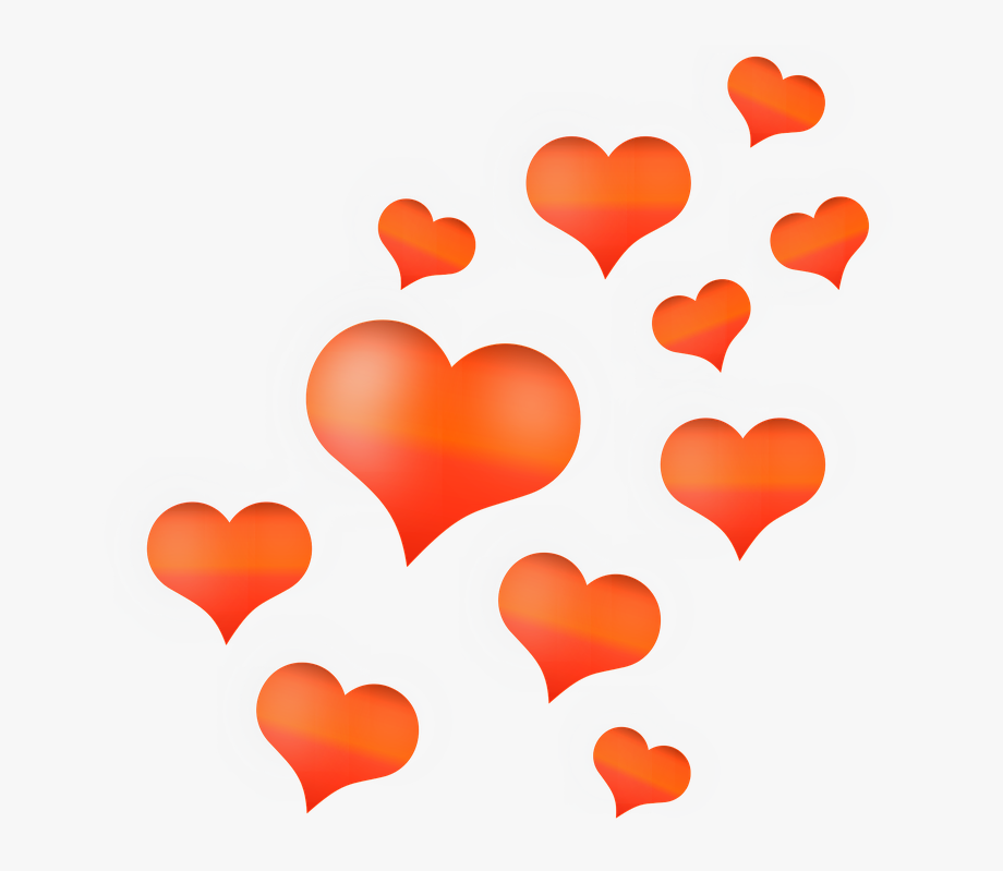 Sweets and treats clipart heart transparent background jpg freeuse library Digital Hearts Love - Orange Hearts Transparent Background ... jpg freeuse library