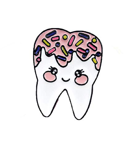 Sweettooth clipart image Amazon.com: Super Cute Sweet Tooth Enamel 1\