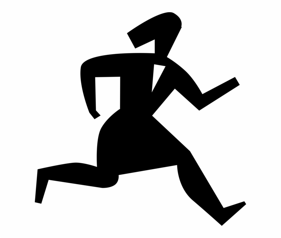 Swiftly clipart jpg Vector Illustration Of Businesswoman Running Swiftly ... jpg