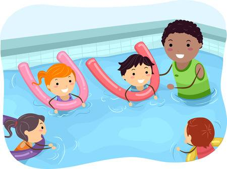 Swim lessons gear clipart banner library library Free collection of Swim clipart swimming class. Download ... banner library library