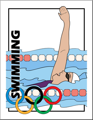 Swim olympic clipart clip free stock Clip Art: Summer Olympics Event Illustrations: Swimming ... clip free stock