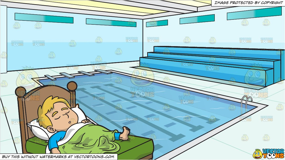 Swim pool clipart boy svg royalty free download A Boy Sleeping Comfortably and Indoor Olympic Size Swimming Pool Background svg royalty free download