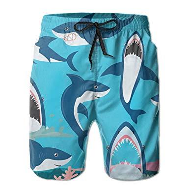 Swim shorts clipart jpg royalty free stock Shark Clipart Men\'s Quick Dry Beach Board Shorts Summer Swim ... jpg royalty free stock