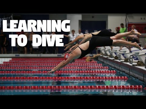 Swimmer diving off block clipart clipart library stock Learning to Dive - YouTube clipart library stock