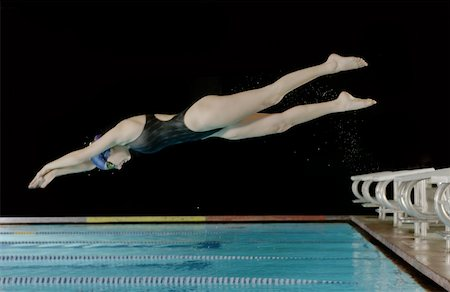 Swimmer diving off block clipart banner royalty free Diving board not outdoors Stock Photos - Page 1 : Masterfile banner royalty free