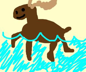 Swimmin moose clipart image freeuse Swimming moose - Drawception image freeuse