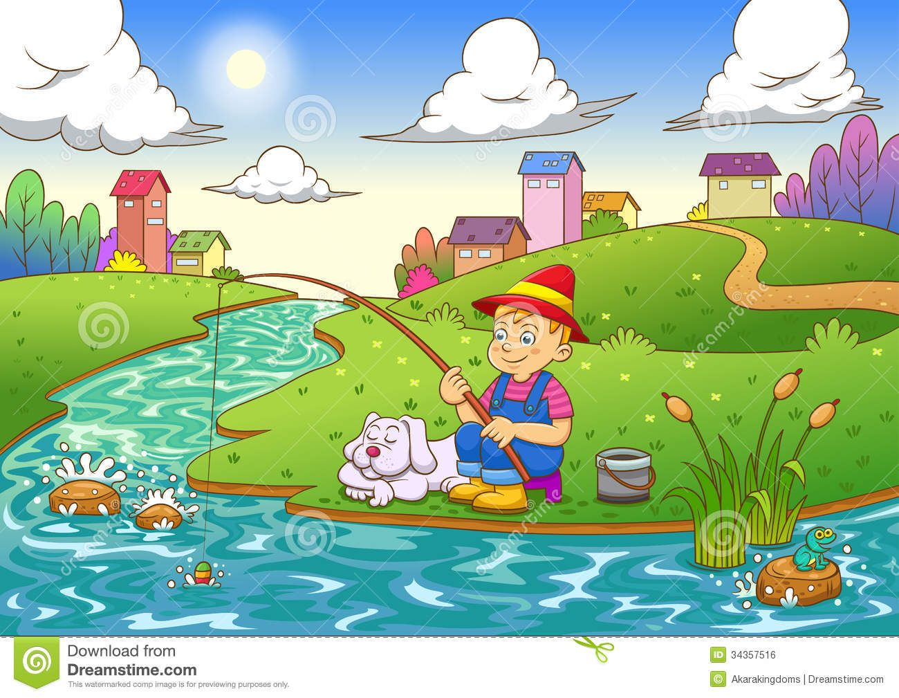 Swimming across the river clipart picture transparent fishing river clipart | grandpa minnow | Kids activity books ... picture transparent
