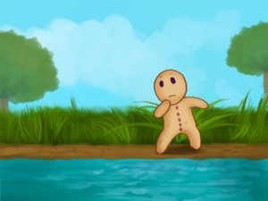 Swimming across the river clipart banner transparent download The Gingerbread Man - Children Story by Tales with GiGi banner transparent download
