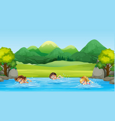 Swimming across the river clipart png royalty free library River Clipart Vector Images (over 1,700) png royalty free library
