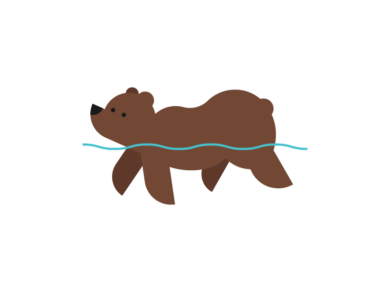 Swimming bear clipart graphic black and white download Swimming Bear by Jason Smith on Dribbble graphic black and white download